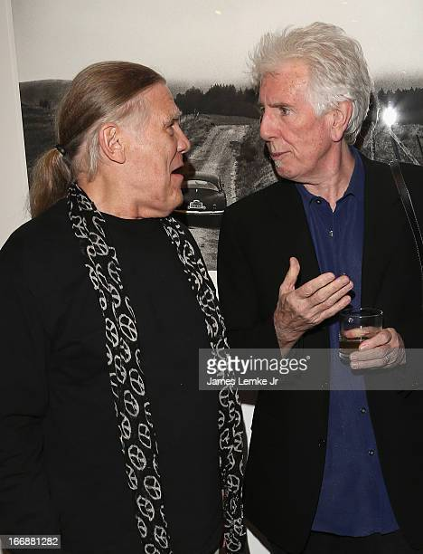 Henry Diltz and Graham Nash attend Visual Harmony the stunning photography of rock icon Graham Nash Opening Reception held at the Morrison Hotel...