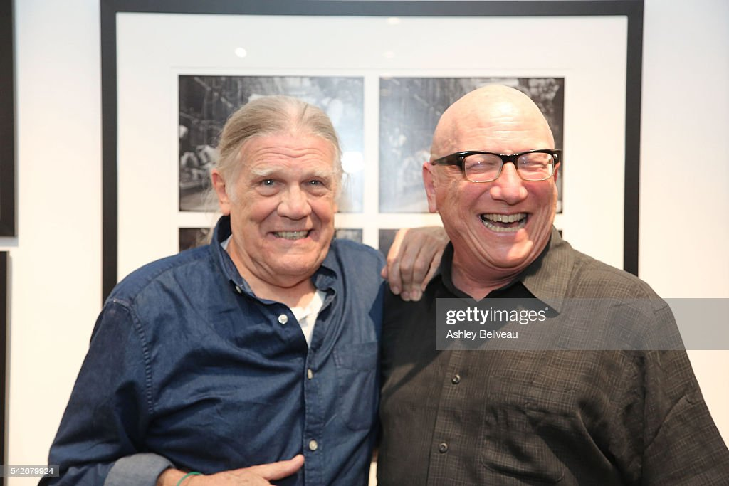 Henry Diltz and Rich Horowitz attend the celebration for 'Don't Look Back' exhibit at Morrison Hotel Gallery on June 23, 2016 in West Hollywood, California.