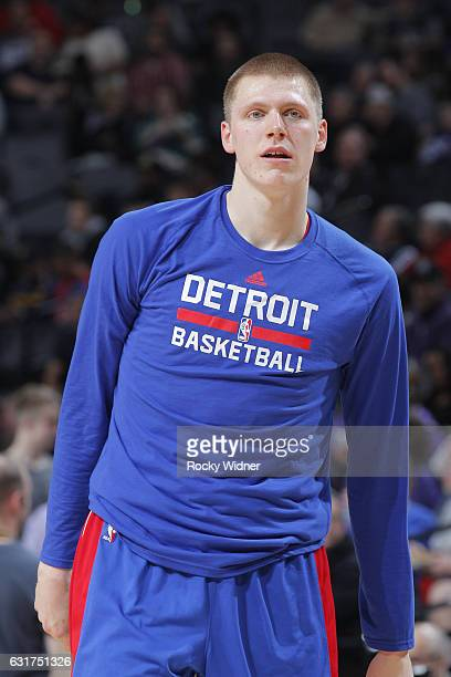 Henry Ellenson of the Detroit Pistons looks on during the game against the Sacramento Kings on January 10 2017 at Golden 1 Center in Sacramento...