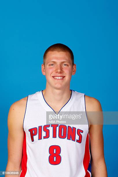 Henry Ellenson of the Detroit Pistons poses for a headshot during the 20162017 Detroit Pistons Media Day on September 26 2016 in Auburn Hills...