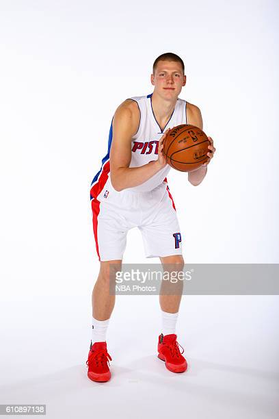 Henry Ellenson of the Detroit Pistons poses for a photo during the 20162017 Detroit Pistons media day on September 26 2016 in Auburn Hills MI NOTE TO...