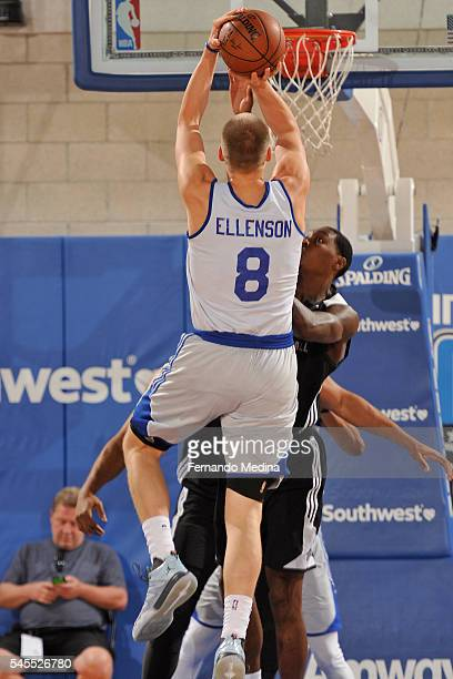 Henry Ellenson of the Detroit Pistons shoots the ball against the Orlando Magic White during the Orlando Summer League Championship Game on July 8...