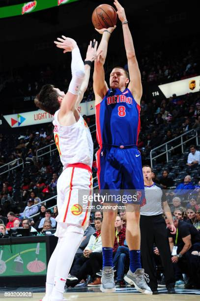 Henry Ellenson of the Detroit Pistons shoots the ball against the Atlanta Hawks on December 14 2017 at Philips Arena in Atlanta Georgia NOTE TO USER...