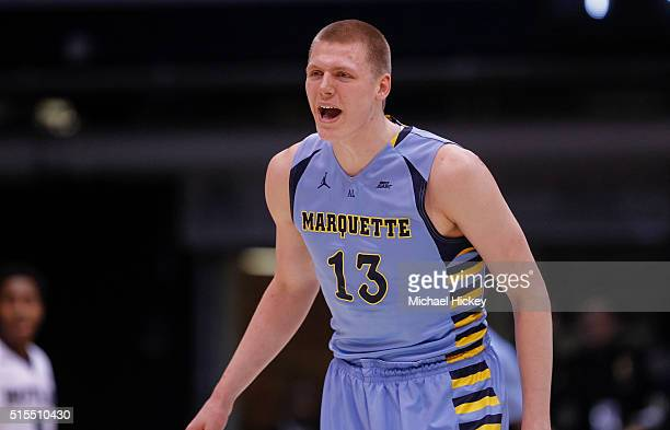 Henry Ellenson of the Marquette Golden Eagles is seen during the game against the Butler Bulldogs at Hinkle Fieldhouse on March 5 2016 in...