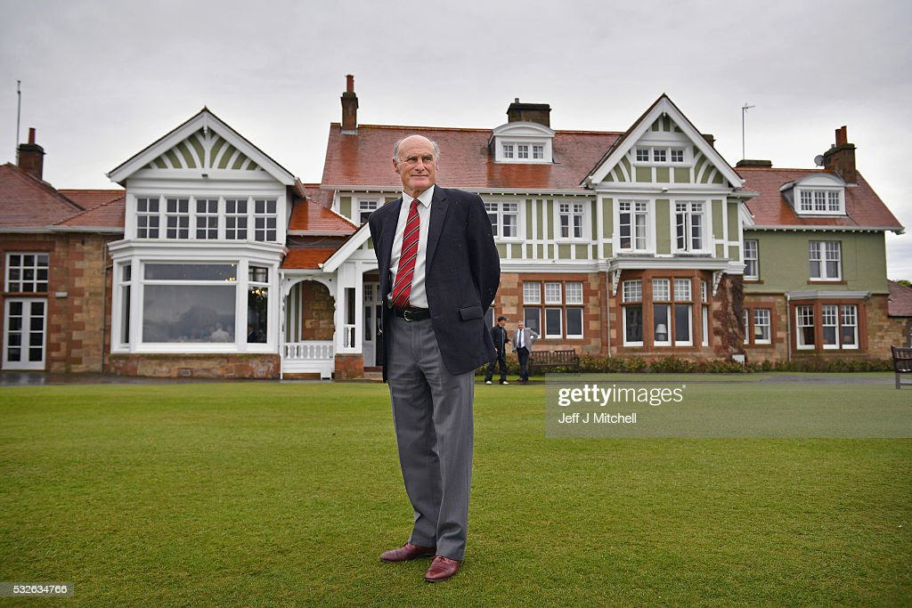 Henry Fairweather, chair of Muirfield Golf Club poses in front of the clubhouse on May 19, 2016 in Gullane, Scotland. Muirfield Golf Club has lost the right to host the Open Championship after it failed to rally a majority of male members behind the vote allowing women to join the club as members. Women are welcome on the course and the clubhouse as guests and visitors.