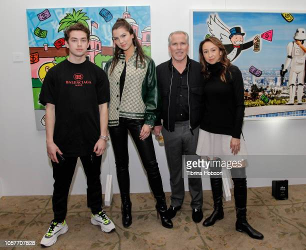 Henry family attends the Alec Monopoly Beverly Hills Hotel Capsule Collection unveiling on November 4 2018 in Beverly Hills California