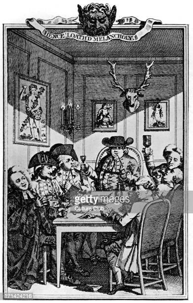 Henry Fielding reading at the Bedford Arms. From the frontispiece to ' Sir John Fielding 's Jests '. English novelist and dramatist: 22 April 1707 –...