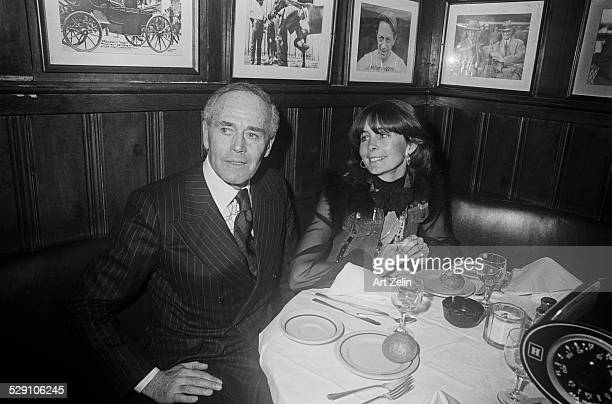Henry Fonda and Shirlee 21 Club circa 1970 New York