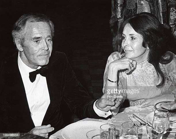 Henry Fonda and Shirlee Fonda during Henry Fonda File Photos in New York City New York United States