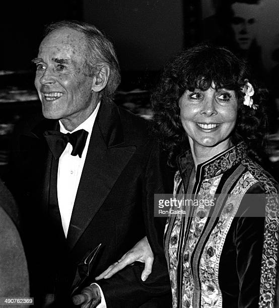 Henry Fonda and wife Shirlee Fonda attend Sixth American Film Institute Lifetime Achievement Awards Honoring Henry Fonda on March 1 1978 at the...
