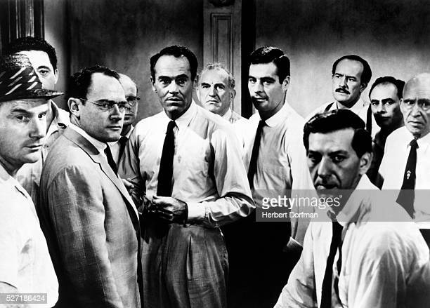 Henry Fonda Ed Begley Jack Klugman and others in a scene from the movie Twelve Angry Men
