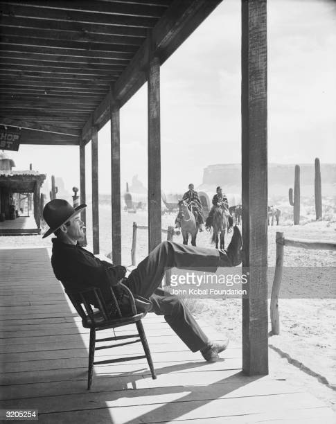 Henry Fonda stars as Wyatt Earp in 'My Darling Clementine' a movie version of the Gunfight at the OK Corral directed by John Ford
