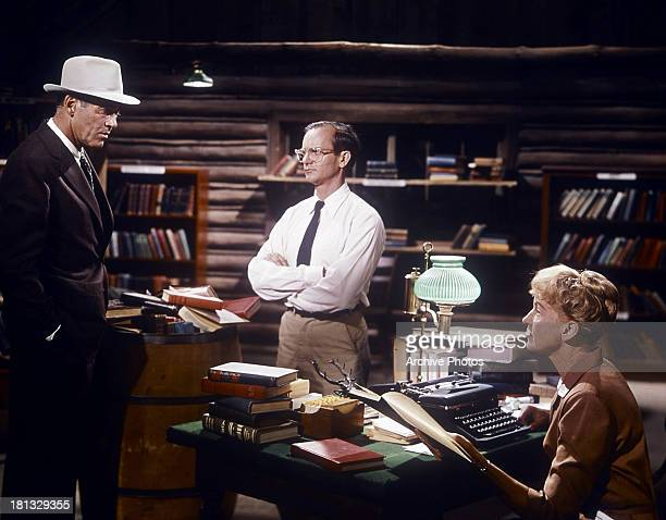 Henry Fonda Wally Cox and Mimsy Farmer in a scene from the film 'Spencer's Mountain' 1963