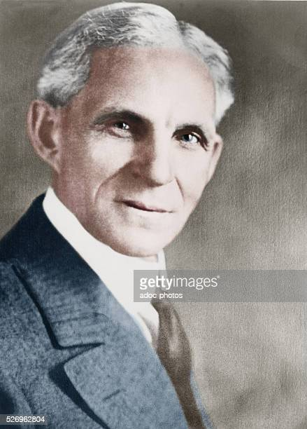 Henry Ford American Industrialist Founder Of The Motor Company Ca 1920 Coloured Photograph