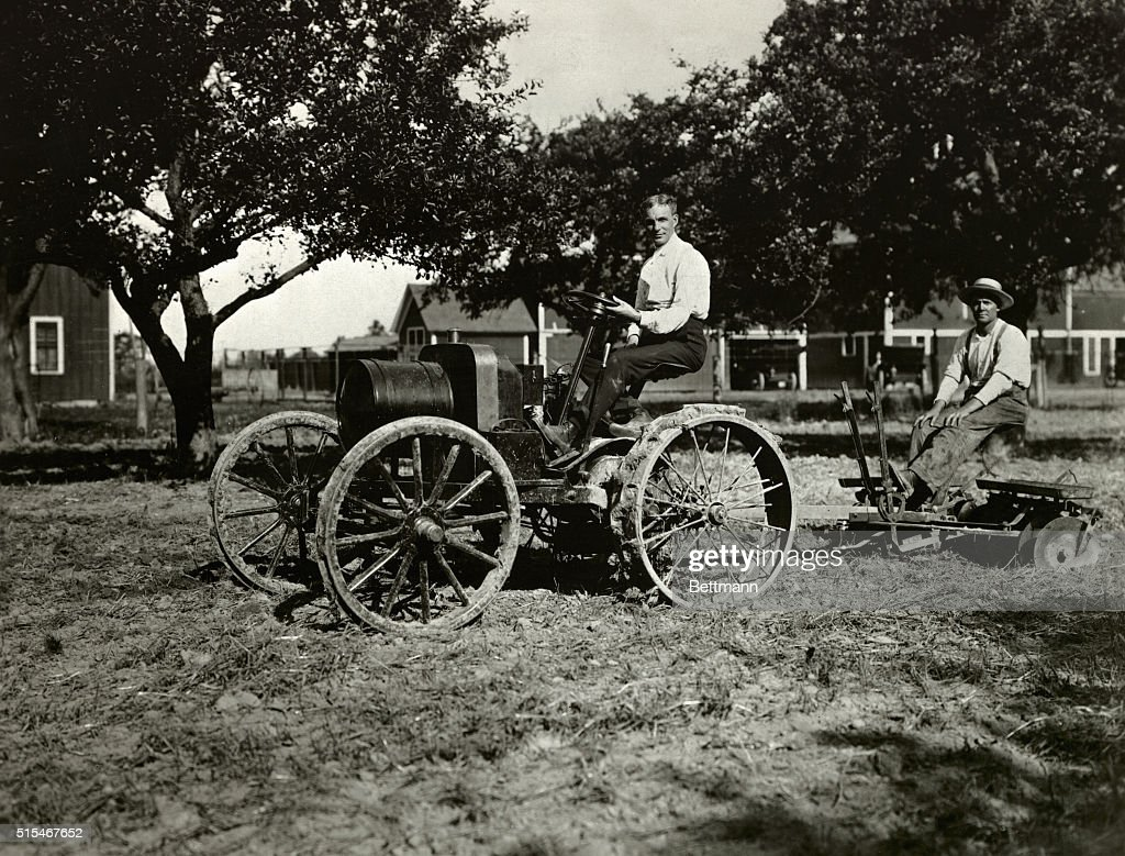 Henry Ford and Farmer Utilizing Tractor Pictures | Getty Images