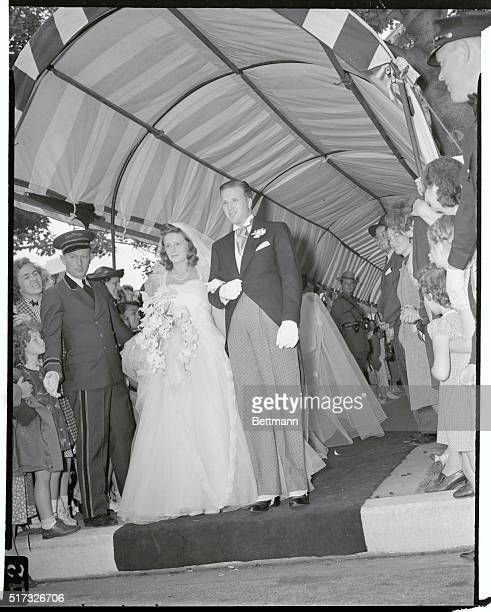 Henry Ford II and Bride Southampton New York Henry Ford II son of Edsel Ford and grandson of Henry Ford pictured with his bride the former Anne...