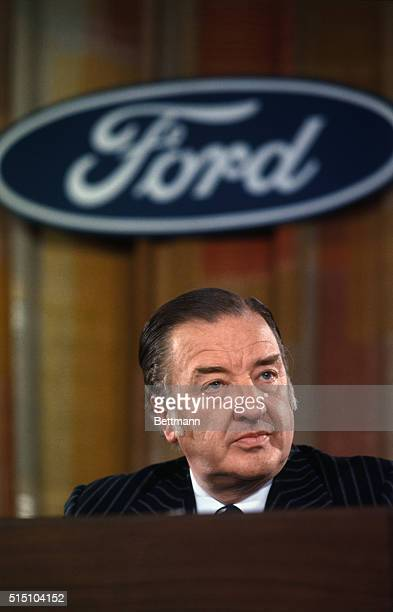 Henry Ford II board chairman of the Ford Motor Companyduring a press conference December 10th During this news conference he announced the election...