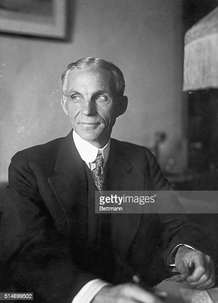 Henry Ford in his New York Hotel suite on Nov. 24 before setting sail on the peace ship, Oscar II. Photograph.