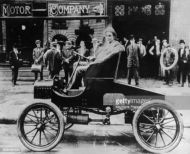 Henry Ford Presents The New Ford Model T in the United States circa 1900