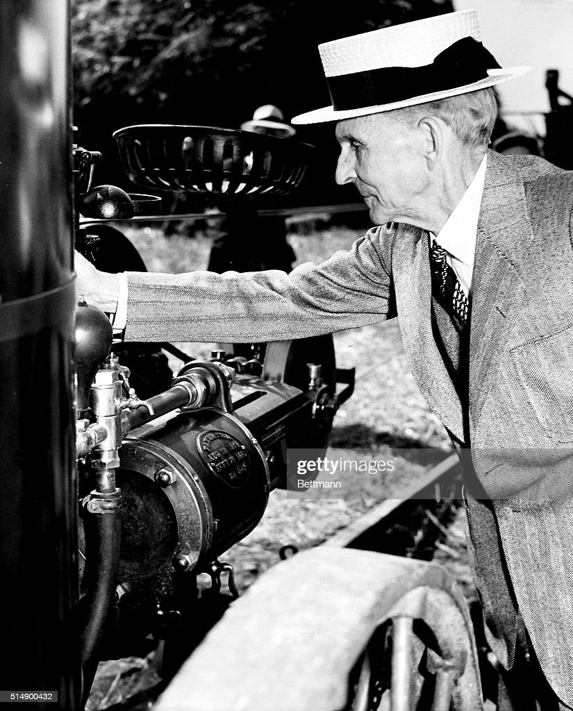 Henry Ford Inspecting Car Engine Pictures | Getty Images