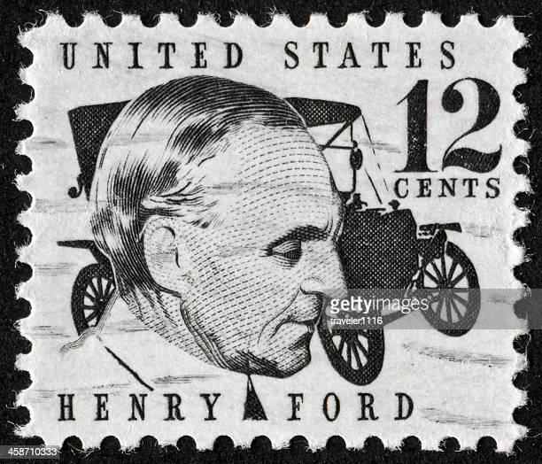 henry ford-briefmarke - ford stock-fotos und bilder