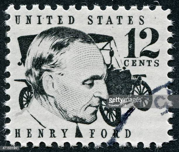 henry ford stamp - model t ford stock pictures, royalty-free photos & images