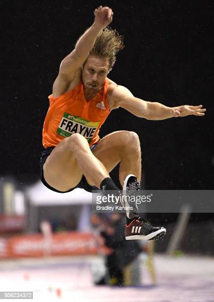 Henry Frayne competes in the Men's Long Jump during the Summer of Athletics Grand Prix at QSAC on March 22 2018 in Brisbane Australia