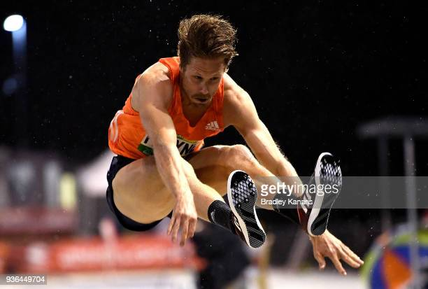 Henry Frayne competes in the Men's Long Jump event during the Summer of Athletics Grand Prix at QSAC on March 22 2018 in Brisbane Australia