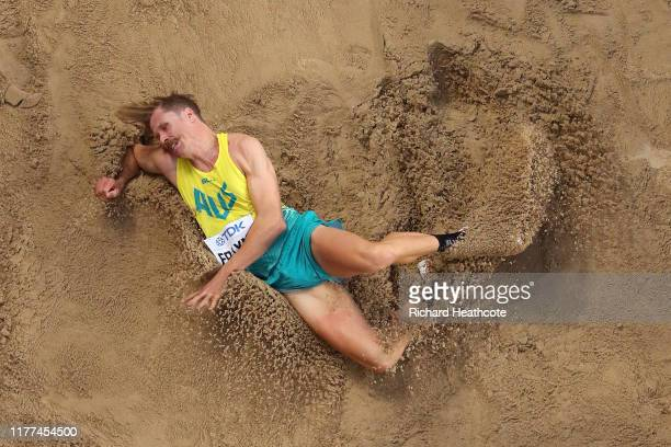 Henry Frayne of Australia competes in the Men's Long Jump qualification during day one of 17th IAAF World Athletics Championships Doha 2019 at...
