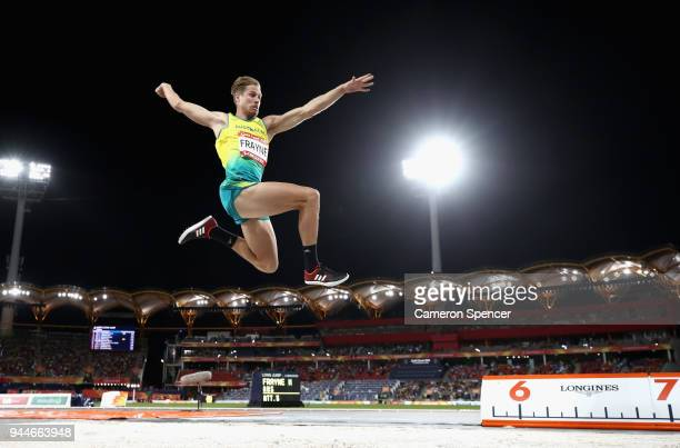 Henry Frayne of Australia competes in the Men's long jump final during athletics on day seven of the Gold Coast 2018 Commonwealth Games at Carrara...