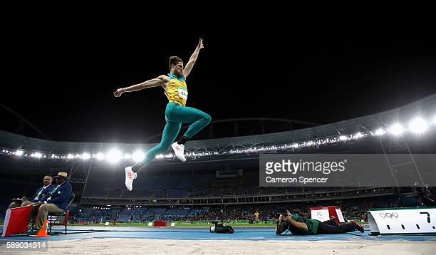 Henry Frayne of Australia competes in the Men's Long Jump qualification on Day 7 of the Rio 2016 Olympic Games at the Olympic Stadium on August 12...