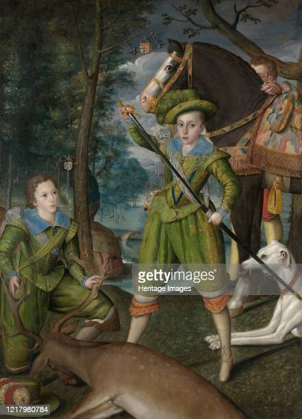 Henry Frederick Prince of Wales with Sir John Harington in the Hunting Field 1603 Artist Robert Peake I