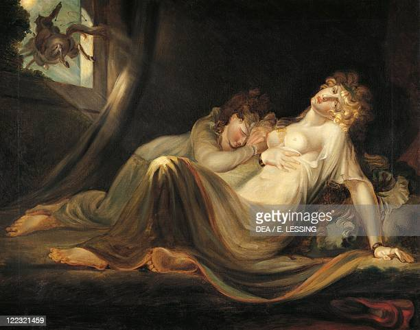 Henry Fuseli An Incubus Leaving Two Sleeping Girls oil on canvas 85x110 cm