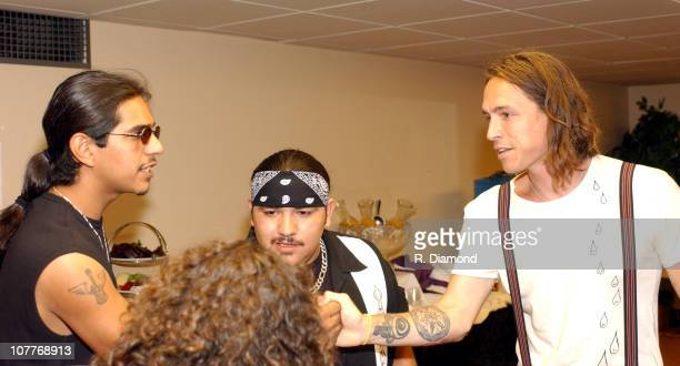 Henry Garza and Ringo Garza Jr of Los Lonely Boys with Brandon Boyd of Incubus