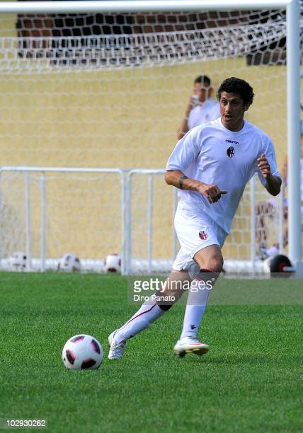 Henry Gimenez of Bologna in action during pre season friendly match betwen Bologna and Molveno on July 15 2010 in Andalo Valtellino Italy