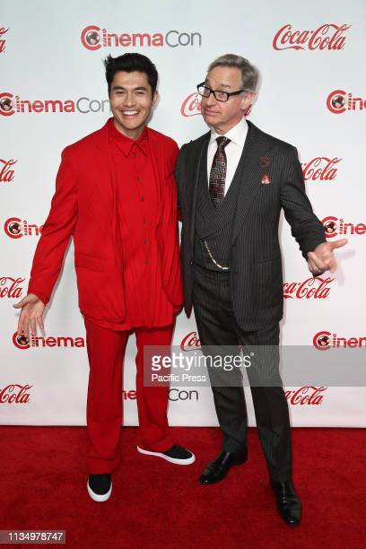Henry Golding and director Paul Feig during the CinemaCon Big Screen Achievement Awards at Omnia Nightclub at Caesars Palace. CinemaCon is the...