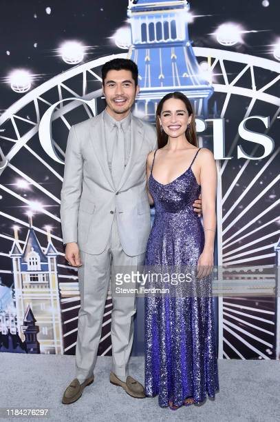 Henry Golding and Emilia Clarke attend Last Christmas New York premiere at AMC Lincoln Square Theater on October 29 2019 in New York City