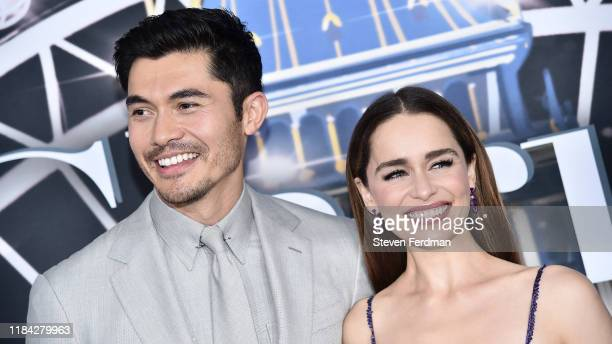 """Henry Golding and Emilia Clarke attend """"Last Christmas"""" New York premiere at AMC Lincoln Square Theater on October 29, 2019 in New York City."""