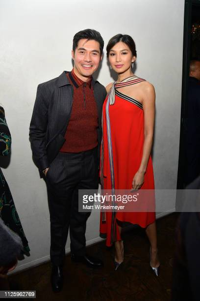Henry Golding and Gemma Chan are seen as Vanity Fair and L'Oréal Paris Celebrate New Hollywood on February 19 2019 in Los Angeles California