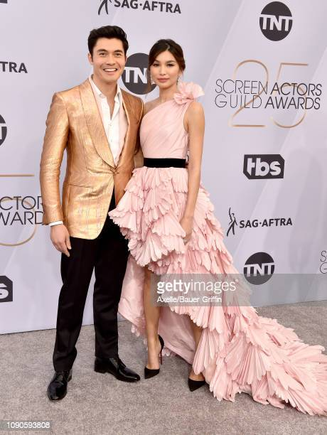 Henry Golding and Gemma Chan attend the 25th Annual Screen Actors Guild Awards at The Shrine Auditorium on January 27 2019 in Los Angeles California