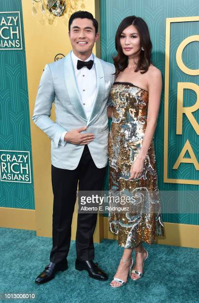 """Henry Golding and Gemma Chan attend the premiere of Warner Bros. Pictures' """"Crazy Rich Asiaans"""" at TCL Chinese Theatre IMAX on August 7, 2018 in..."""