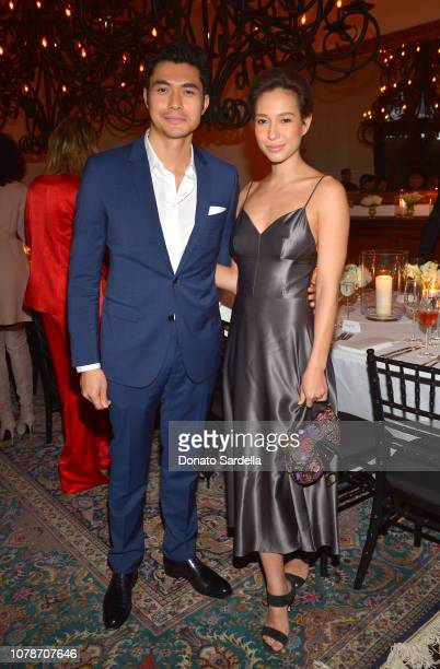 Henry Golding and Liv Lo attend a private dinner hosted by GQ and Dior in celebration of the 2018 GQ Men Of The Year Party on December 06 2018 in Los...