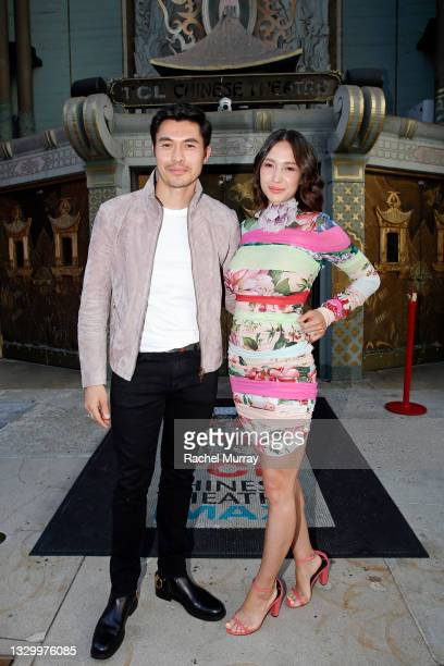 Henry Golding and Liv Lo attend the Comic-Con Fans First Los Angeles Screening 'Snake Eyes: G.I. Joe Origins' at TCL Chinese Theatre on July 21, 2021...