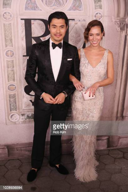 Henry Golding and Liv Lo attend the Ralph Lauren fashion show during New York Fashion Week at Bethesda Terrace on September 7 2018 in New York City