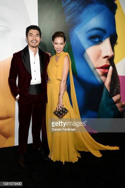 Henry Golding and Live Lo attend the New York premier of A Simple Favor at Museum of Modern Art on September 10 2018 in New York City
