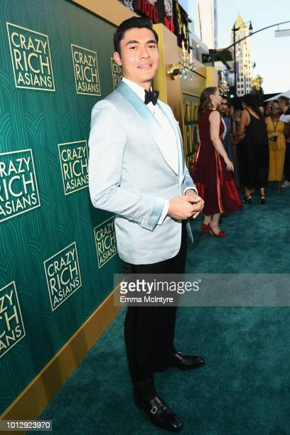 Henry Golding arrives at Warner Bros Pictures' Crazy Rich Asians Premiere at TCL Chinese Theatre IMAX on August 7 2018 in Hollywood California