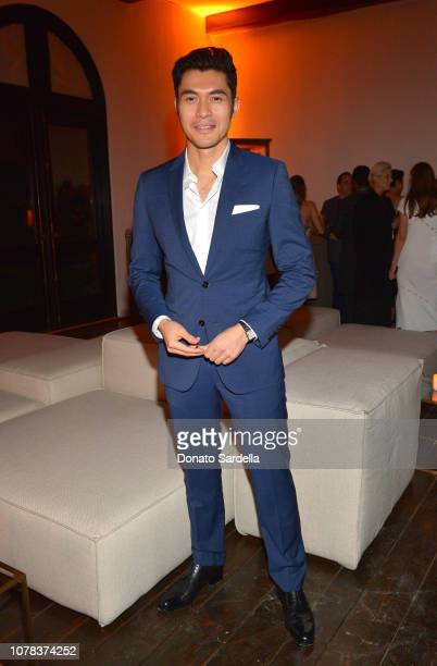 Henry Golding attends a private dinner hosted by GQ and Dior in celebration of the 2018 GQ Men Of The Year Party on December 06 2018 in Los Angeles...