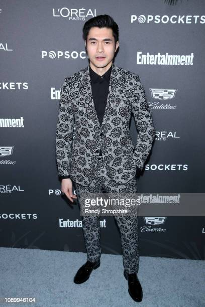 Henry Golding attends Entertainment Weekly Celebrates Screen Actors Guild Award Nominees sponsored by L'Oreal Paris Cadillac And PopSockets at...