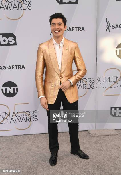 Henry Golding attends the 25th Annual Screen ActorsGuild Awards at The Shrine Auditorium on January 27 2019 in Los Angeles California