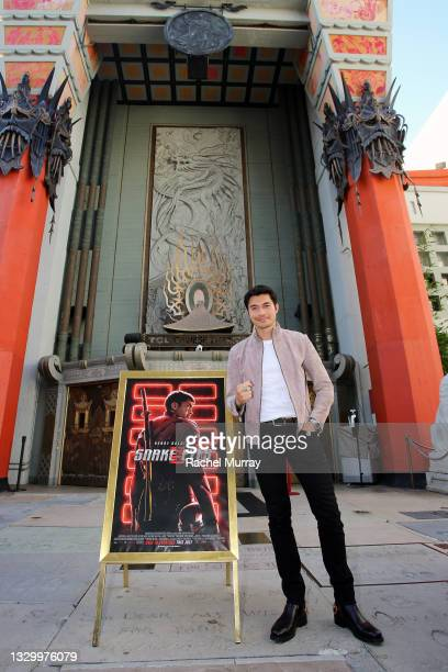 Henry Golding attends the Comic-Con Fans First Los Angeles Screening 'Snake Eyes: G.I. Joe Origins' at TCL Chinese Theatre on July 21, 2021 in...